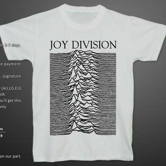 JOY DIVISION UNKNOWN PLEASURES Ian Curtis T-shirt S | eBay