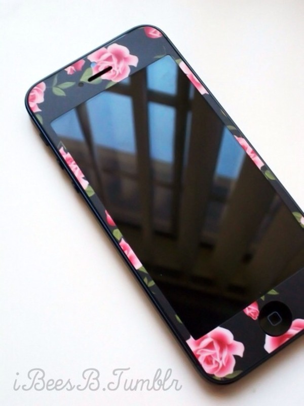 cardigan iphone case phone cover stickers flowers