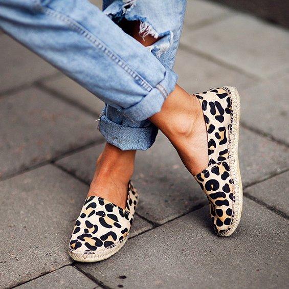 Fancy - Leopard Espadrilles by Enzo Angiolini