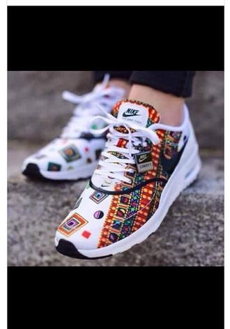 shoes nike tribal pattern white shoes