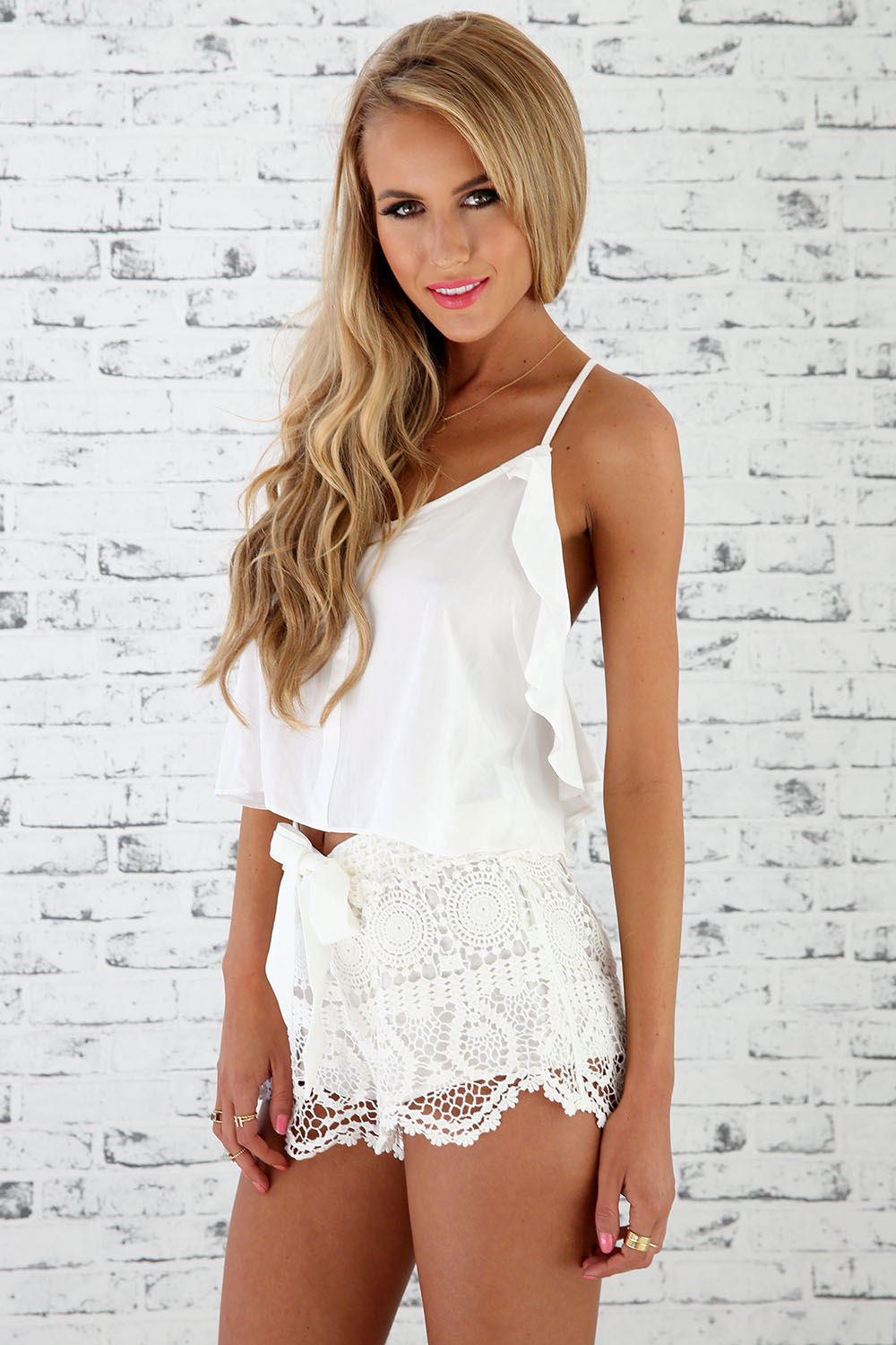 Ripple Frill Crop | SABO SKIRT