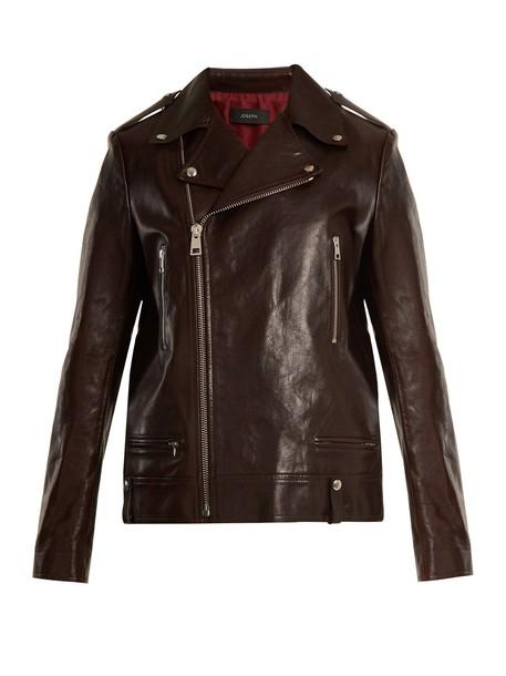 Joseph jacket leather jacket leather burgundy