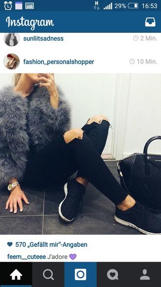 coat fur faux fur jacket black classy