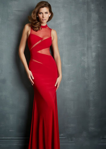 dress red evening dresses