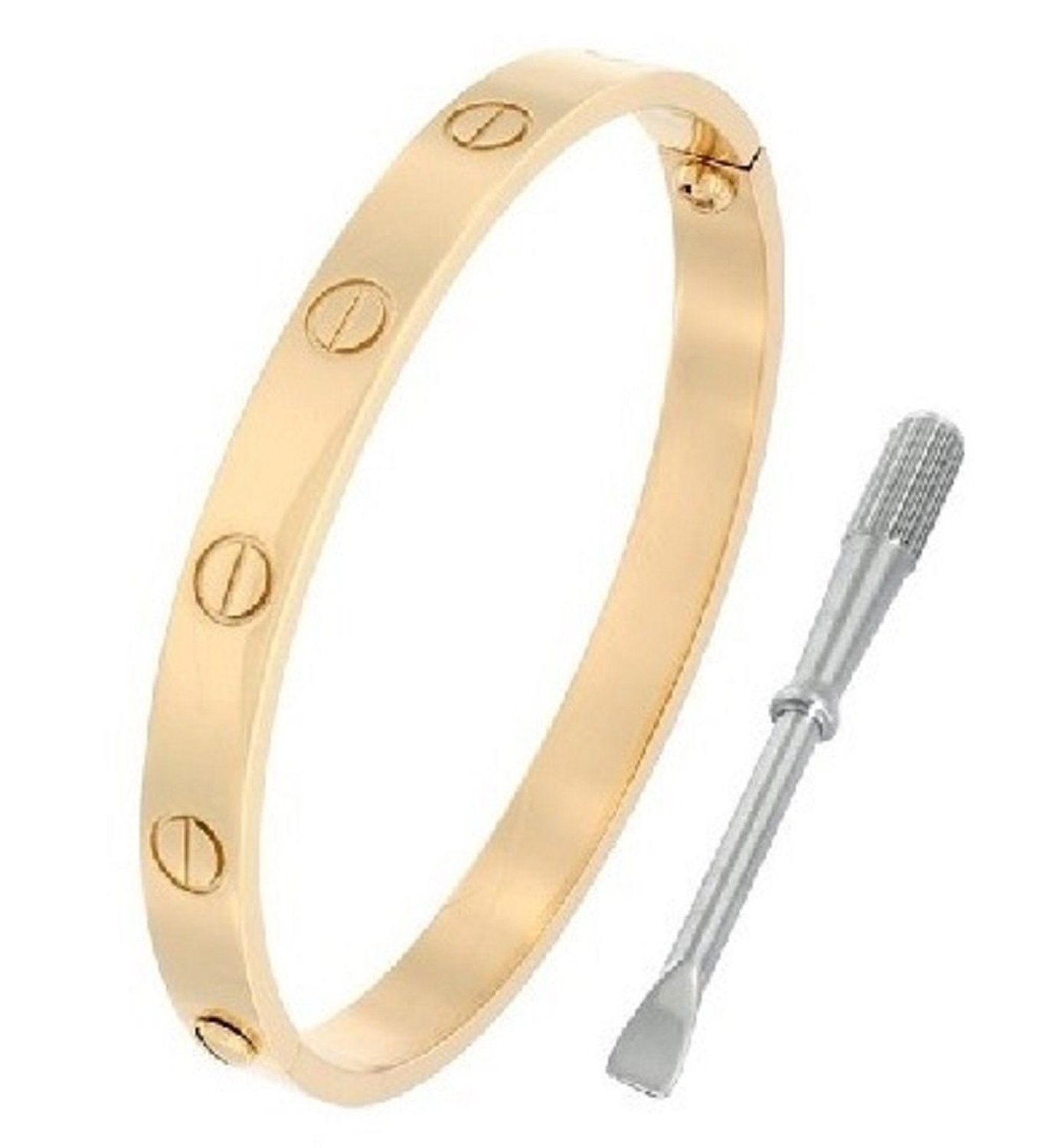 bangles for bangle arrow armband women iwisb noeud products plated screw bracelet gold bracelets manchette enfashion cuff