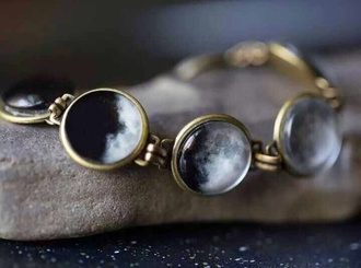 jewels bracelets moon gold black