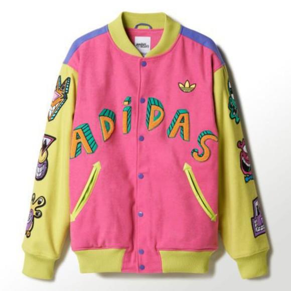 colorful jacket adidas letterman jacket