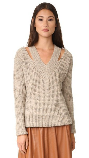 Rebecca Minkoff Draco Sweater - Oatcake Multi