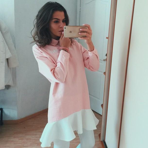 dress pink dress pink korean fashion korean fashion