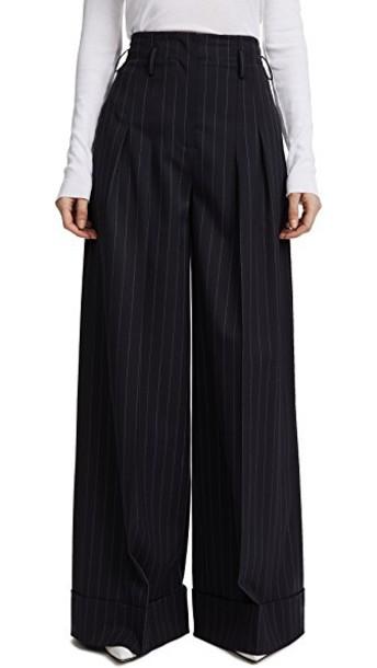 Jason Wu Grey pants palazzo pants white
