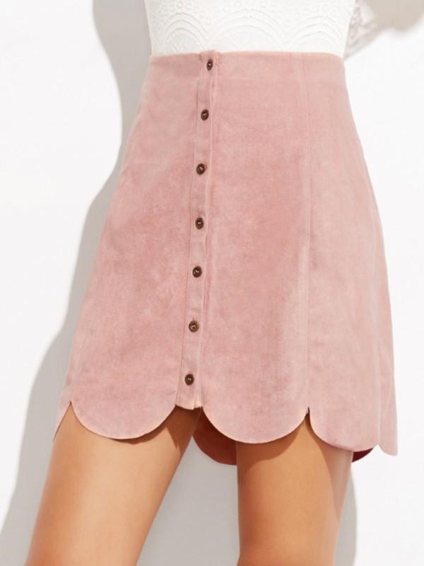 287e3df8b7 High Waisted Button Up Skirt | Skirt Direct
