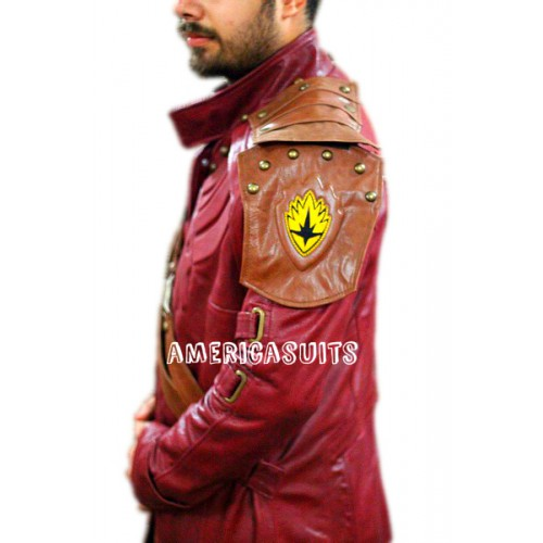 Starlord guardians of the galaxy long leather coat