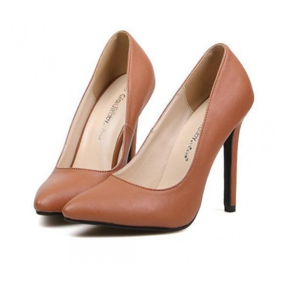 Brown High Heel Court Shoes