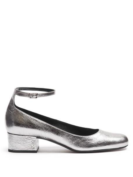 Saint Laurent pumps leather silver shoes