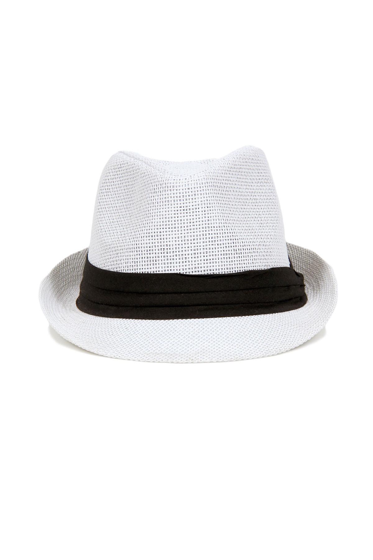 Hipster Fedora Hat - White