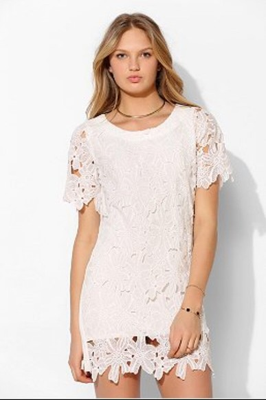 dress white dress lace dress lace white lace dress