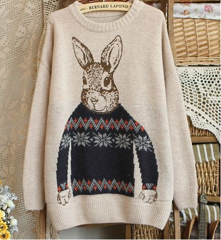 Peter Rabbit Beige Pullovers Sweater on Luulla