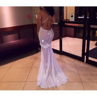 dress gown white dress glitter dress glitter prom dress prom dress fashion style mermaid prom dresses mermaid dress low back dress backless dress backless prom dress backless white dress