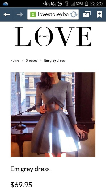 dress grey dress flare dress skater dress