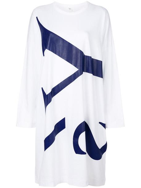 dress shirt dress t-shirt dress women white cotton print