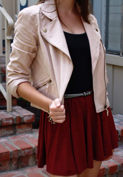 tank top jacket coat skirt belt   dress burgundy