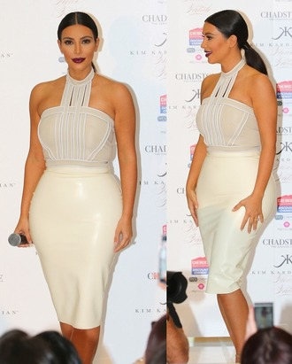 top blouse kim kardashian white