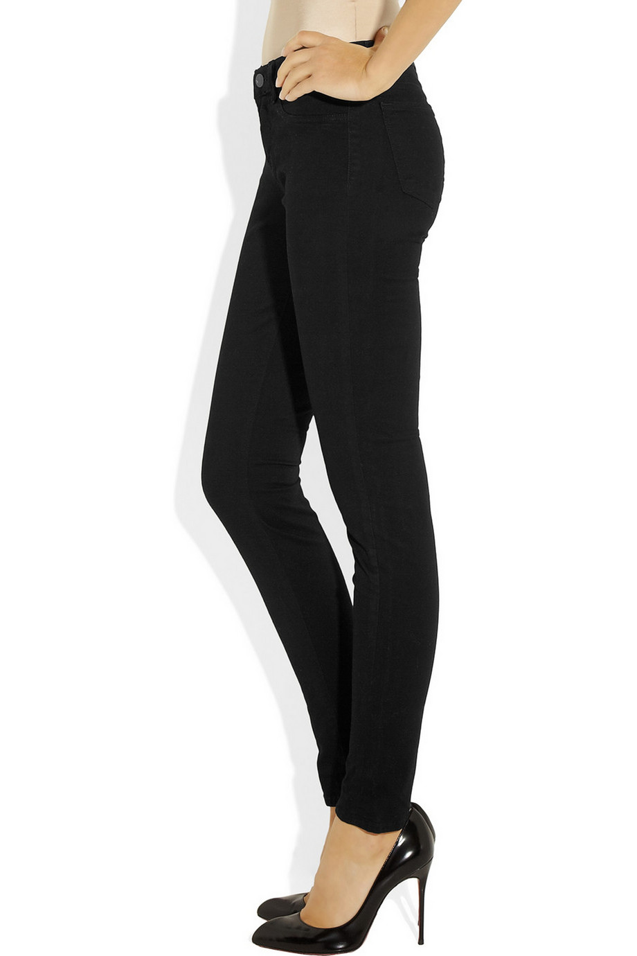 J Brand 811 mid-rise twill skinny jeans – 55% at THE OUTNET.COM
