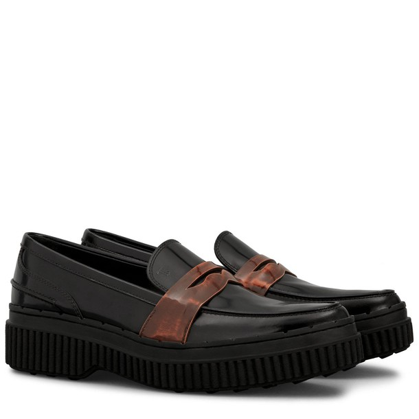 Tods maxi loafers black shoes