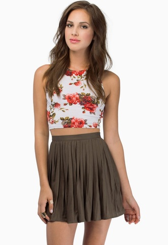 top floral tank top fashion crop tops tobi summer top