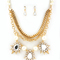 Flirty edge pearl & spike crystal necklace