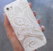 phone cover,jewels,white case,iphone,iphone case,iphone 5 case,accessories,iphone gold,iphone 5s,iphone5/5s\case,design,pattern,clear,iphone 6 case,white,iphone cover,iphone casee,iphone 6 cover,iphone 6 floral case,iphone henna case,iphone white case,cool,chic,indie