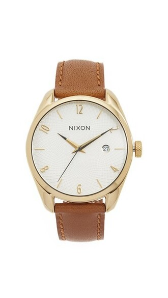 leather watch watch gold leather jewels