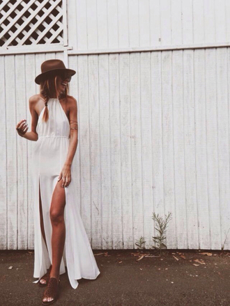 dress boho boho dress white dress white maxi dress summer braided braid