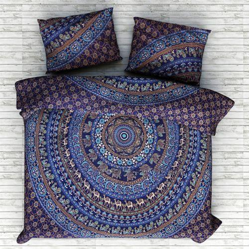 Blue Indian Mandala Bedding Set with Duvet Cover and Pillow cases