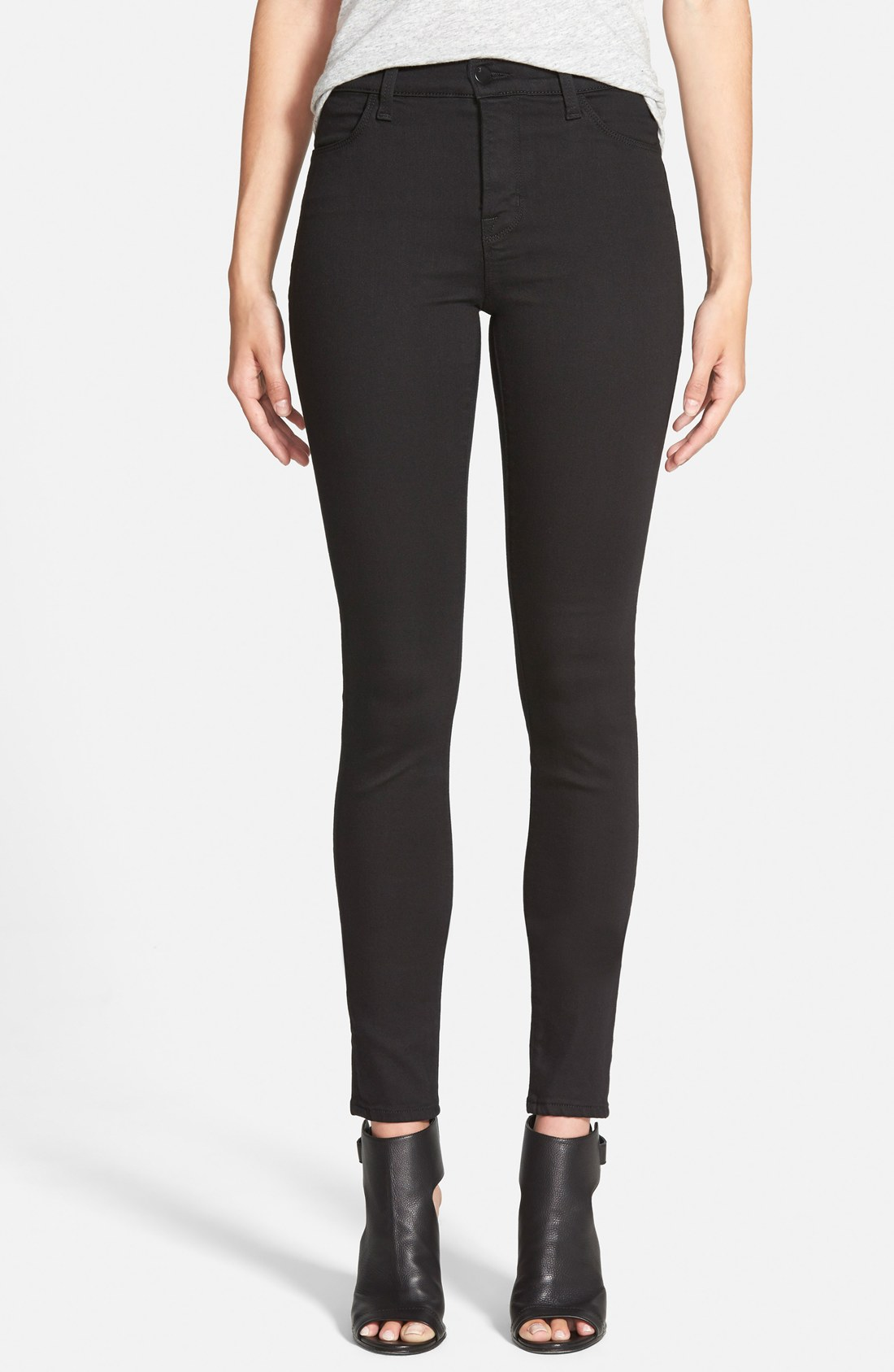 Brand 'Maria' High Rise Skinny Jeans (Seriously Black) | Nordstrom