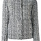 Herno - patterned reversible puffer jacket - women - feather down/polyamide - 40, white, feather down/polyamide