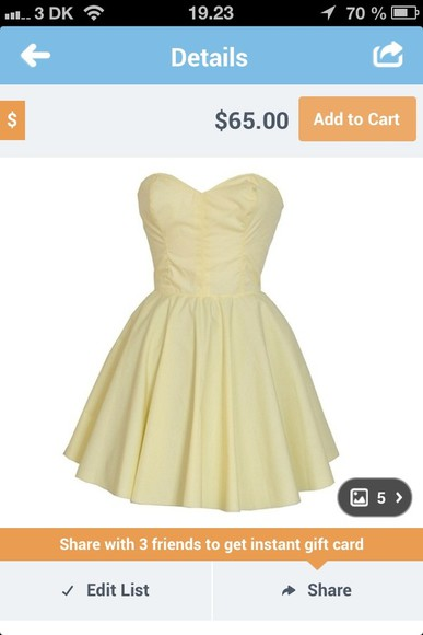 tube dress dress yellow cute beautiful adorable summer