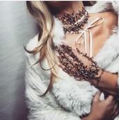 jewels,rose gold,gold,silver,diamond chocker,gold choker,choker necklace,classy