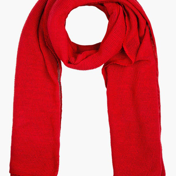red scarf menswear mesh scarf red