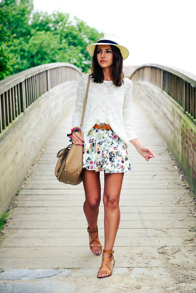lovely pepa shoes bag jewels sweater shorts skirt belt hat