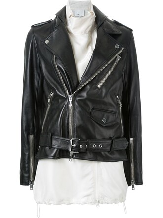 jacket biker jacket women black silk