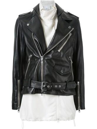 jacket biker jacket women black silk