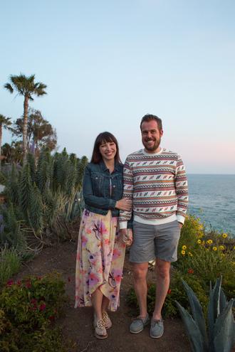 kelsey bang blogger jacket make-up dress shoes sweater shorts floral dress denim jacket spring outfits menswear