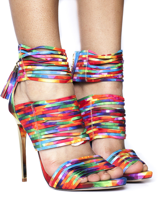 shoes rainbow heels sandals summer outfit