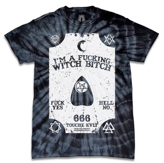 shirt tie dye grunge ouija witch witchbitch occult jacket