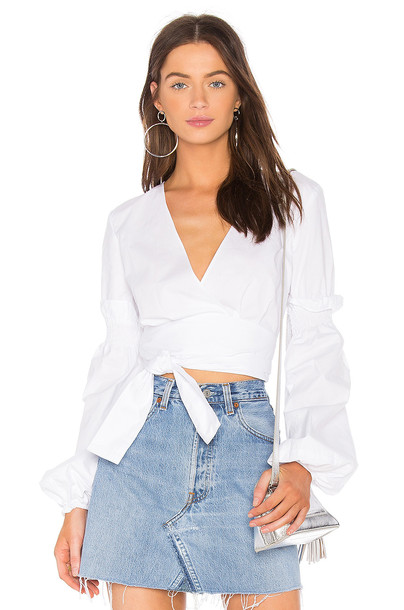tHE FIFTH LABEL top wrap top white