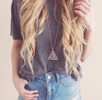 jewels necklace triangle
