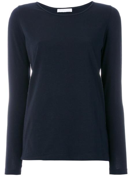 top long women spandex cotton blue