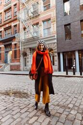 the little magpie,blogger,coat,pants,scarf,bag