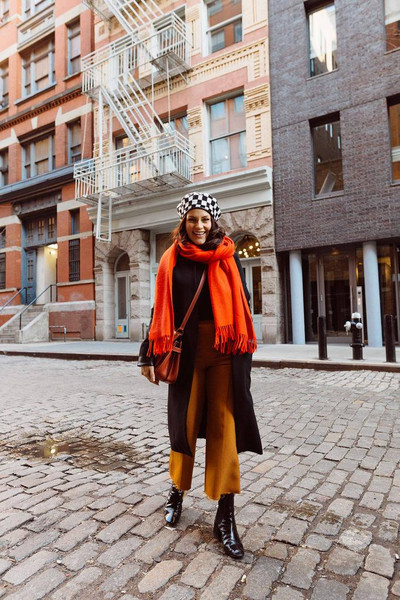 the little magpie blogger coat pants scarf bag
